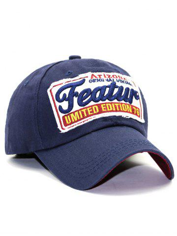 Fashion Patch Letter Embroidery Baseball Hat - CADETBLUE  Mobile