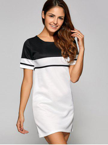 Outfit Casual Color Block T-Shirt Dress