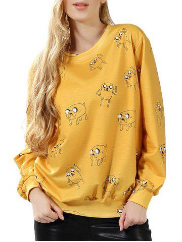 Affordable Cartoon Pattern Pullover Sweatshirt