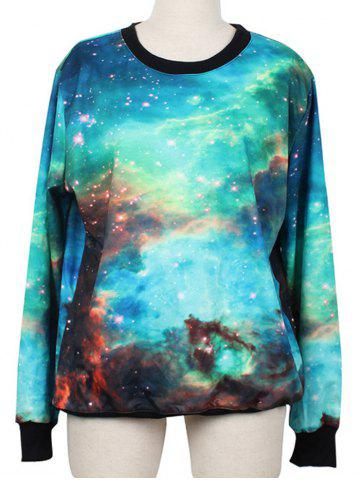 Fancy Pullover Galaxy Ringer Sweatshirt COLORMIX M