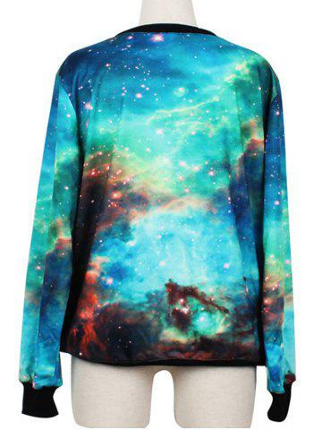 Store Pullover Galaxy Ringer Sweatshirt - M COLORMIX Mobile