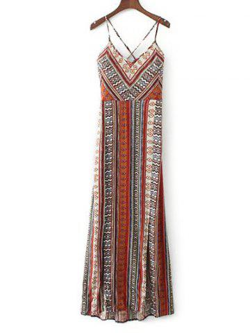 New Cami Vintage Lace-Up Maxi Dress