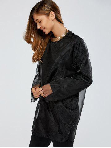 Store Streetwear Organza Double-Deck Sweatshirt - ONE SIZE BLACK Mobile