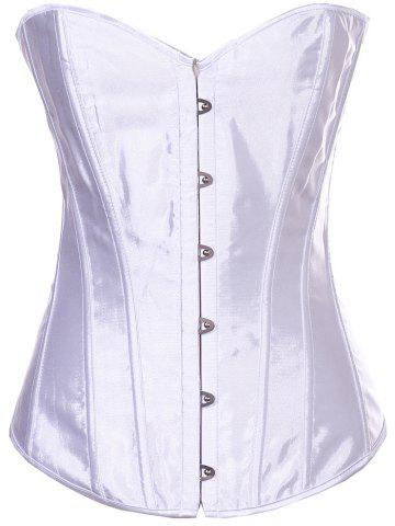 Online Sheeny Buckle Lace-Up Corset