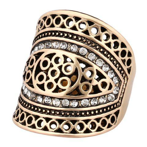 Shops Rhinestone Hollow Out Geometry Ring