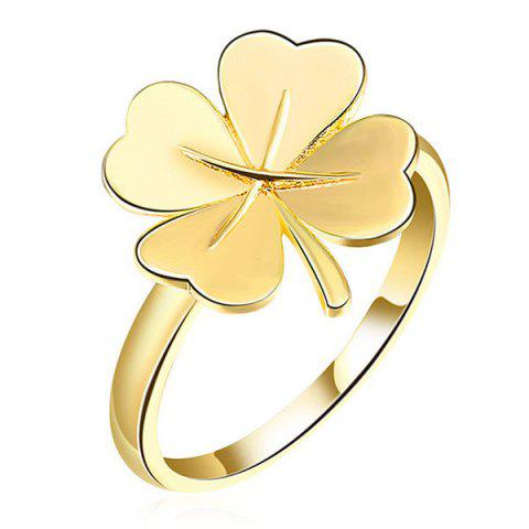Trendy Clover Floral Ring - 6 GOLDEN Mobile
