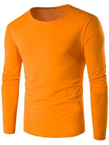 Fashion Slim-Fit Round Neck Long Sleeve T-Shirt