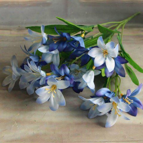 New Real Touch Little Lily Artificial Flower Branch Decoration BLUE