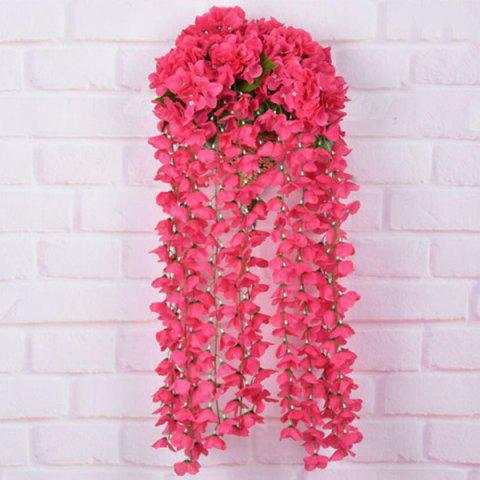 Cheap Wall Decoration Artificial Hydrangea Bracketplant Rattan RED