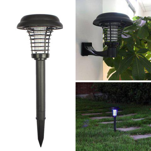 Discount LED Garden Outdoor Decorative Courtyard Solar Insecticidal Light BLACK