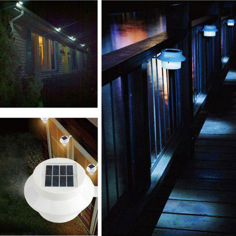 Cheap Outdoor Garden Decorative Waterproof LED Solar Courtyard Fence Lamp - WHITE  Mobile