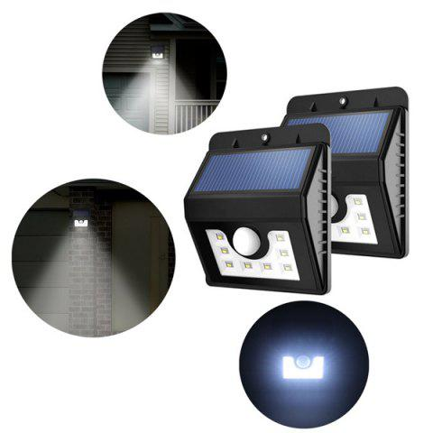 Discount LED Solar Garden Lights Outdoor Decorative Waterproof Induction Wall Lamp - BLACK  Mobile