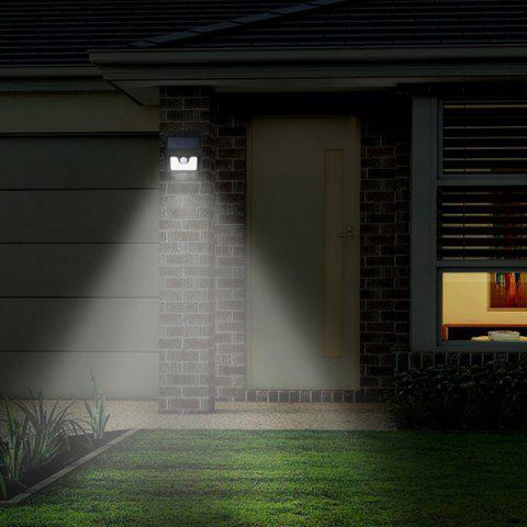 Outfit LED Solar Garden Lights Outdoor Decorative Waterproof Induction Wall Lamp - BLACK  Mobile