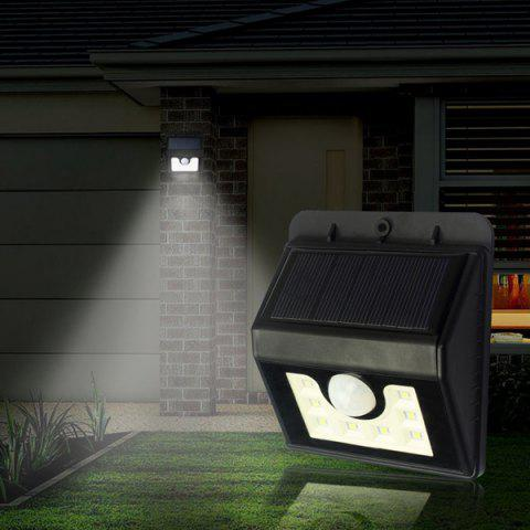 LED Solar Garden Lights Outdoor Decorative Waterproof Induction Wall Lamp - Black
