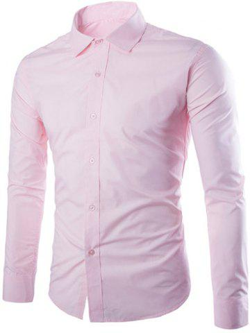 Trendy Single Breasted Shirt Collar Long Sleeve Shirt
