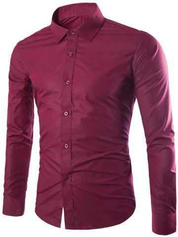 Outfit Single Breasted Shirt Collar Long Sleeve Shirt