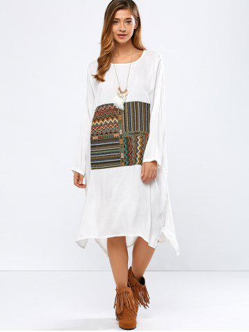 Discount High-Low Embroidered Vintage Dress