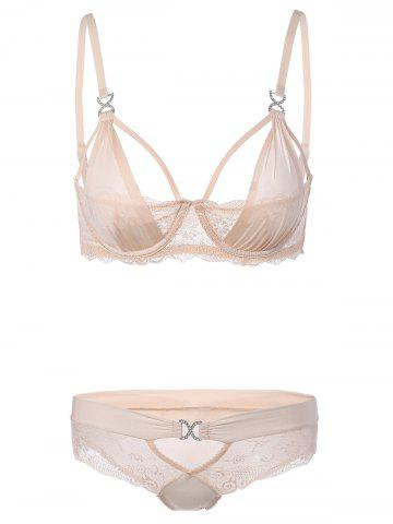 Buy Cut Out Lace Bra Panty Set