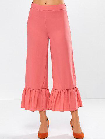 Buy Frilled High Rise Wide Leg Pants