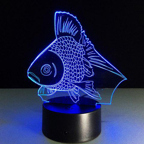Fancy Colorful 3D Visual Fish Shape LED Table Night Light COLORFUL