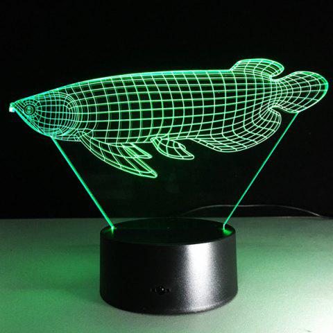 Trendy Touching Color Changing 3D Illusion Fish LED Night Light