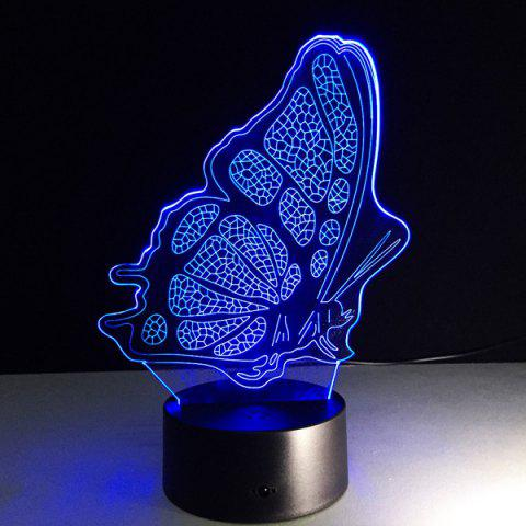 Colorful color changing 3d illusion butterfly led kids - Color changing room lights ...