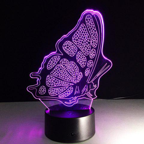 Latest Color Changing 3D Illusion Butterfly LED Kids Room Night Light - COLORFUL  Mobile