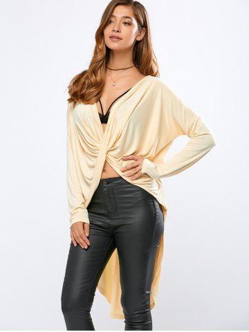 New High-Low Wrap T-Shirt