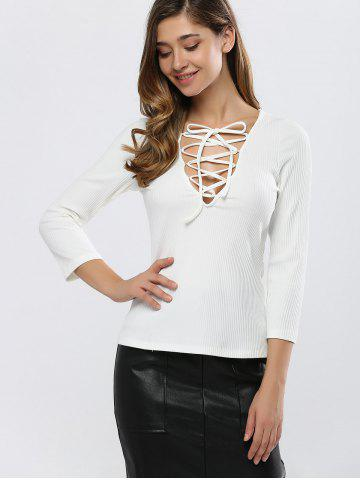 Outfits Fitting Lace-Up T-Shirt