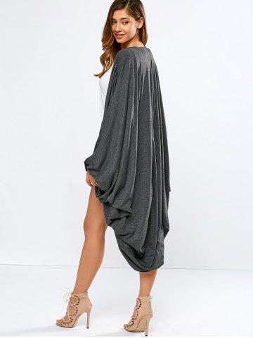 Fashion Collarless Bat-Wing Sleeve Duster Coat