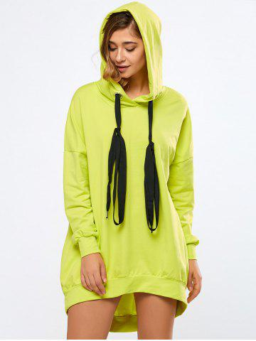 Latest Oversized Long Hoodie FLUORESCENT YELLOW L