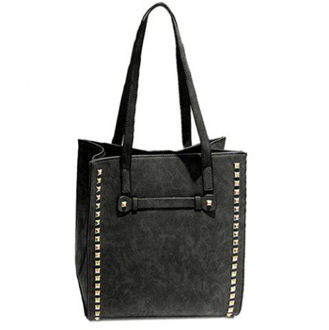 Buy PU Leather Metal Rivets Belt Shoulder Bag