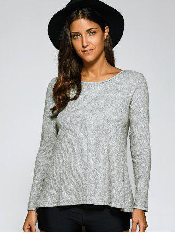 Shop Lace-Up Ribbed Pullover
