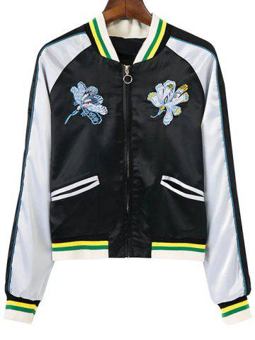 Affordable Embroidered Satin Souvenir Jacket