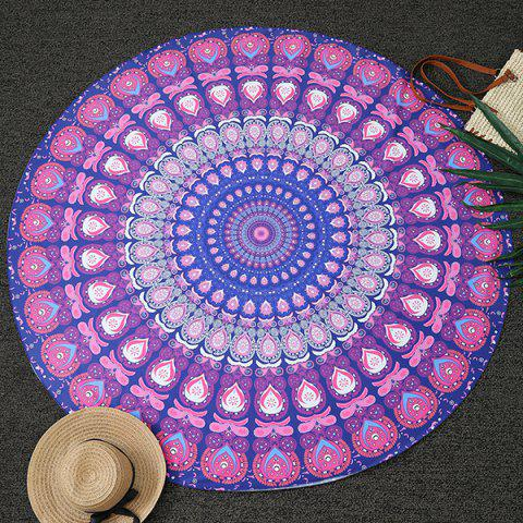 Bohemia Feather Mandala Vortex Imprimer Plage ronde Throw