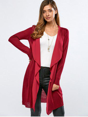 Outfit Fitting Chiffon Spliced Cardigan -   Mobile