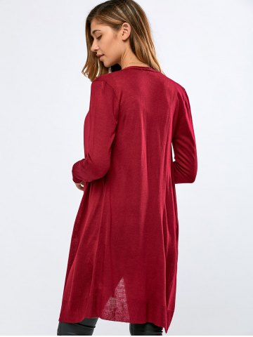 Outfits Fitting Chiffon Spliced Cardigan -   Mobile