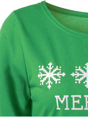 Affordable Merry Christmas Bitches Graphic Sweatshirt - GREEN L Mobile
