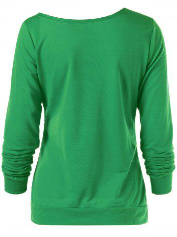 Online Merry Christmas Bitches Graphic Sweatshirt - XL GREEN Mobile