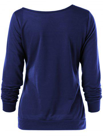 Outfits Merry Christmas Bitches Graphic Sweatshirt - DEEP BLUE S Mobile