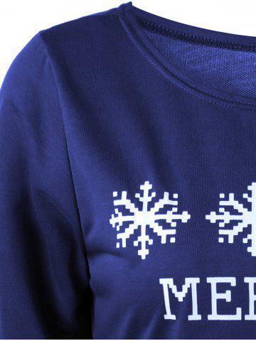 Discount Merry Christmas Bitches Graphic Sweatshirt - DEEP BLUE L Mobile