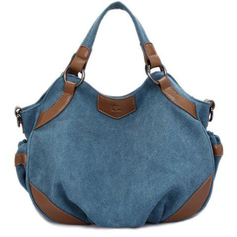 Outfit Splicing Canvas Colour Block Tote Bag
