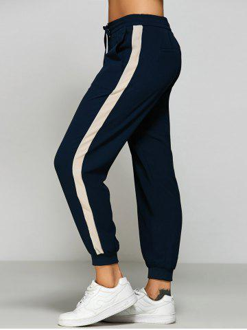 Buy Side Stripe Chiffon Jogging Pants