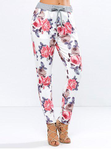 Outfits Drawstring Floral Casual Ankle Length Pants