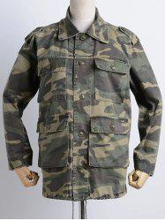 Camouflage Loose Field Jacket -