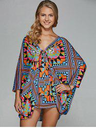 Twist Front Tribal Blouse -