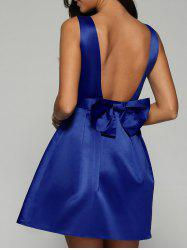 Open Back Fit and Flare Dress -