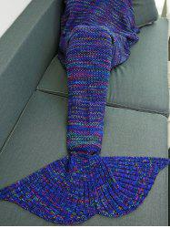 Colorful Crochet Knitting Mermaid Tail Design Blanket