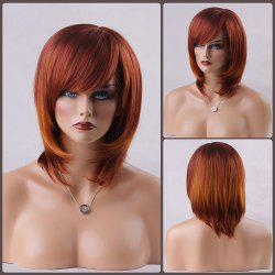 Medium Straight Bob Side Bang Human Hair Wig