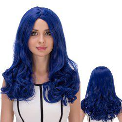Long Wavy Zigzag Parting Synthetic Lolita Wig - DEEP BLUE
